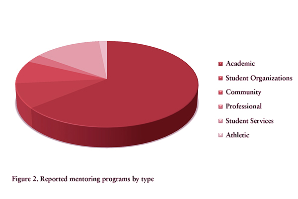 Reported mentoring programs by type