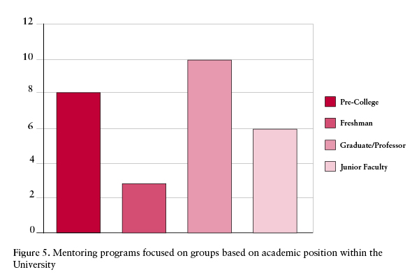 Mentoring programs based on academic position